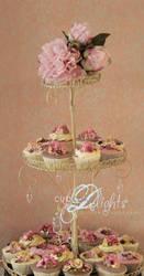 shabby chic cupcake stand by ZaLita