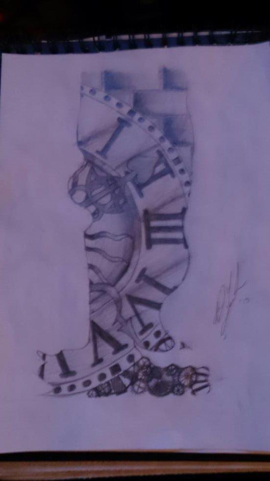 top broken clock tattoo tumblr images for pinterest tattoos. Black Bedroom Furniture Sets. Home Design Ideas