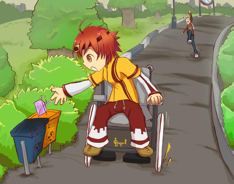CR: buang sampah pada tempatnya~ by pin9yuu