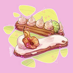 Eclairs for local bakery drawing contest