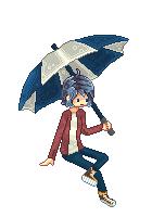 The Umbrella Kid (First Pixel Art, Free-To-Use) by IColouriseYou