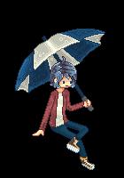 The Umbrella Kid (First Pixel Art, Free-To-Use) by IColouriseYou