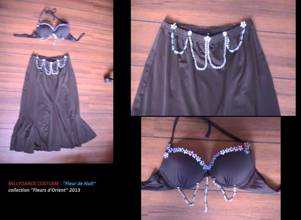 """mon premier costume de danse orientale fait-main en 5h ^^  modèle """"Fleur de Nuit"""" de ma collection """"Fleurs d'Orient"""" 2013 :)  Pour plus d'infos sur la création de ce costume : dc.comics.heroes@gmail.com"""