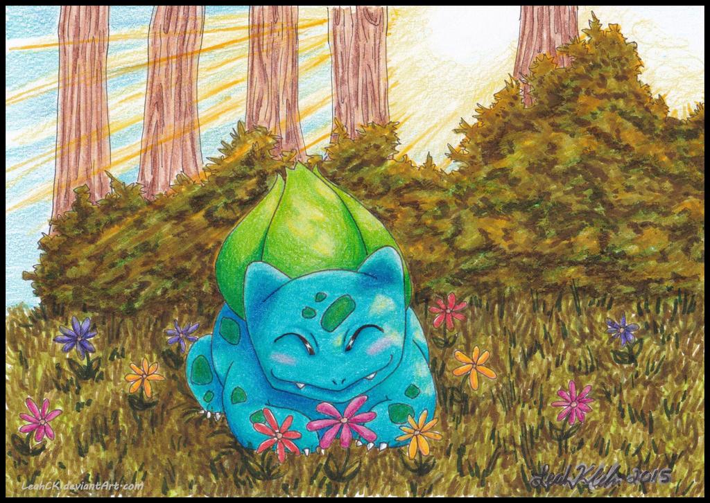 Springtime Bulbasaur by LeahCK