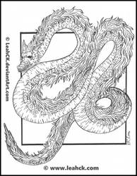 Serpentine Eastern Dragon