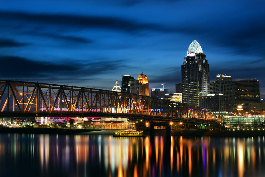 Cincinnati Skyline by KrisVlad