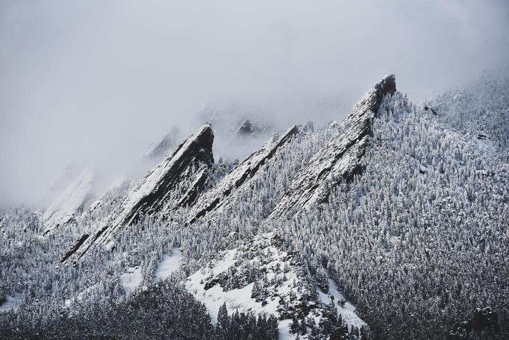 Snowy Flatirons by KrisVlad