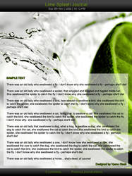 Lime splash CSS journal