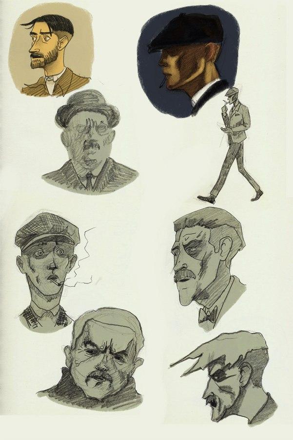 Peaky Blinders faces by Karangond