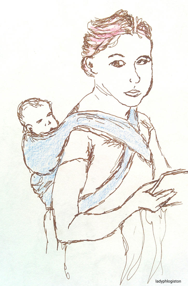 babywearing selfie 10 March 2017 by ladyphlogiston