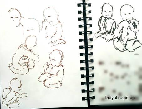 gesture drawings babies (22 March 2017)