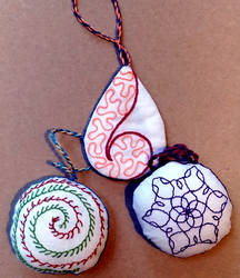 Christmas ornaments (reverse side)
