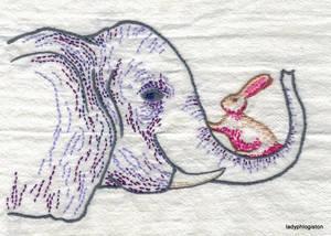 Elephant and rabbit