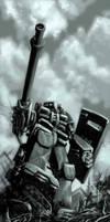 War Mech greyscale by defcombeta