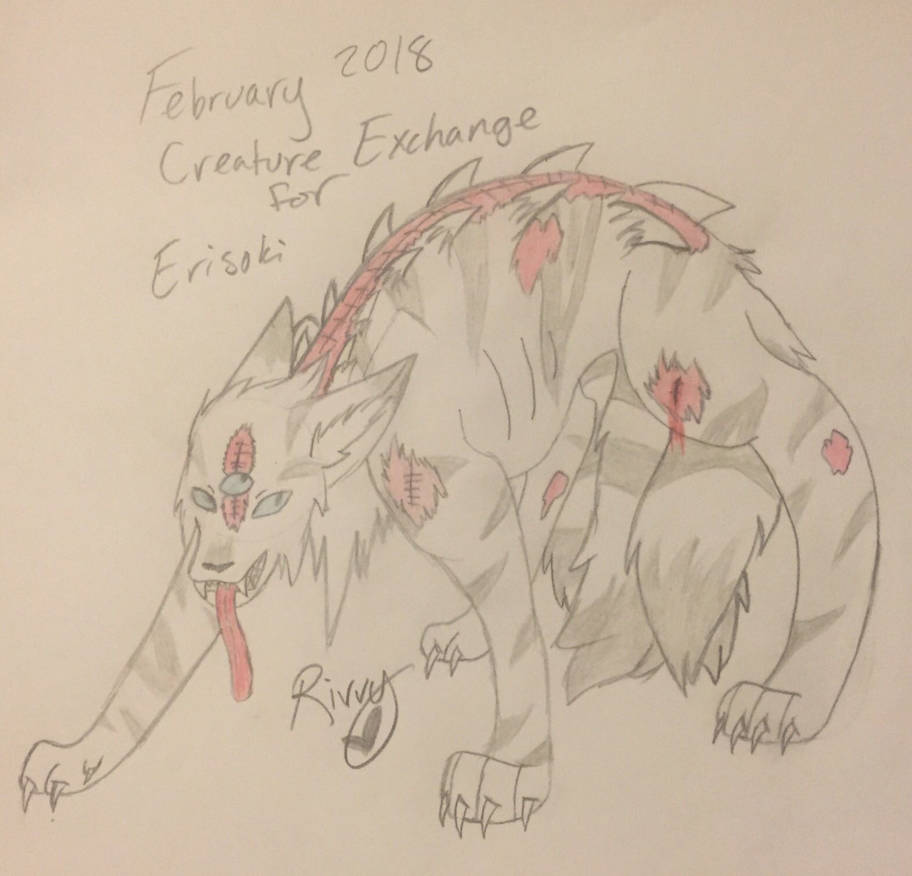Creature Exchange February 2018 for Erisoki by Riverthunder
