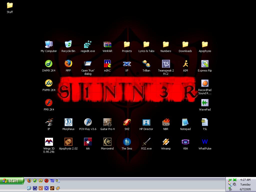 snnr desktop by XdarkwaveroseX