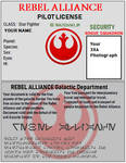 Model Rebel Alliance ID Pilot License Model by florapolitis