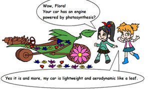 Shugar Rush Flora and Vanellope and Flower Car by florapolitis