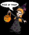 Flora Politis trick or treat - Halloween