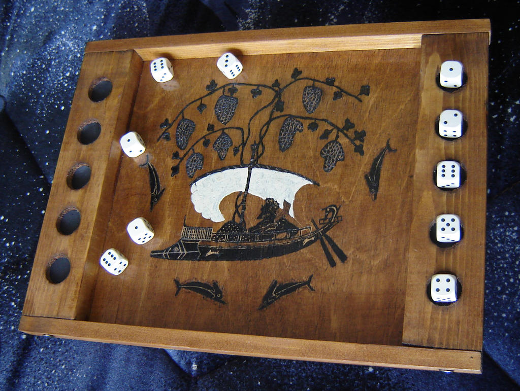 Hand- made dice- game board by M-J-M-A