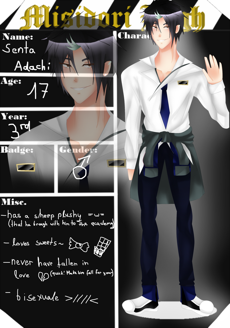 Misidori High: Senta Adachi application by TenshiAdes
