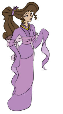 Megara As Mulan - Colored
