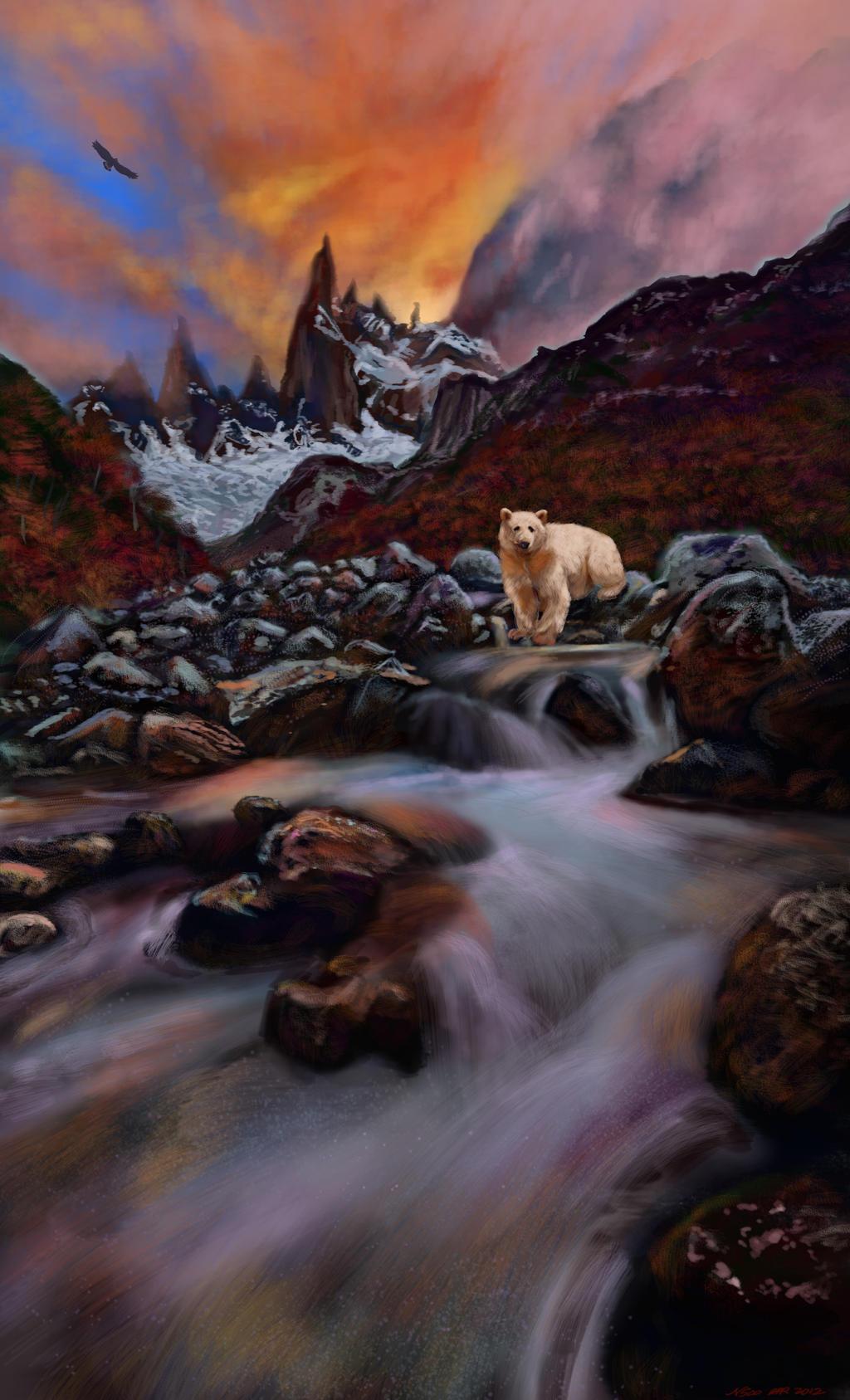 B.C. Kermode spirit bear by nosoart