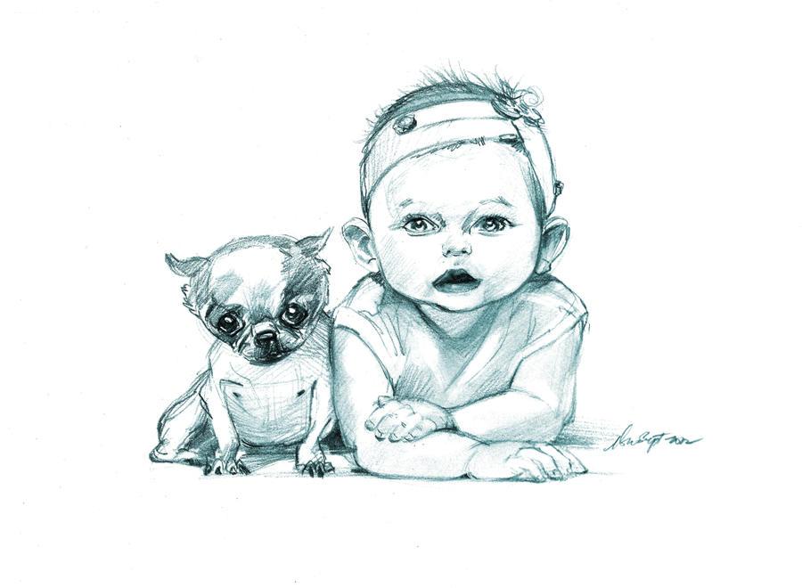 daily doggie sketch 1107 by nosoart