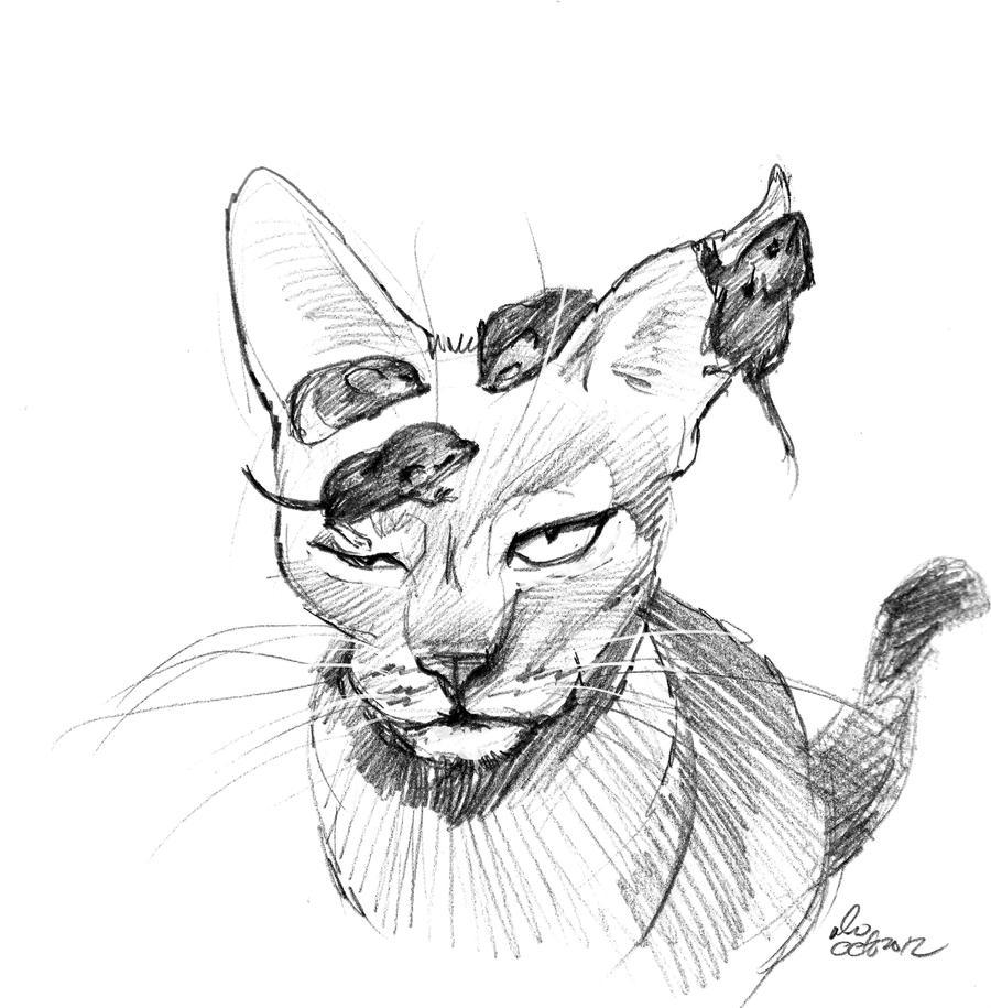 Cute Cat Sketch Mandat...
