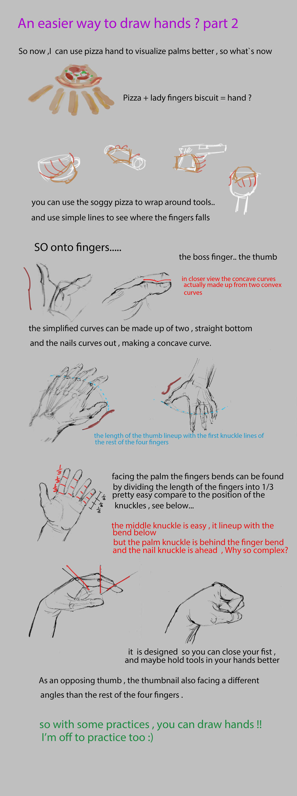 An easier way to draw hands ? part 2 by nosoart