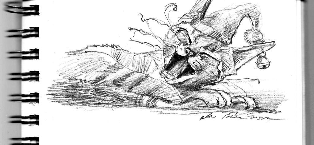 mandatory daily cat sketch 1755 by nosoart
