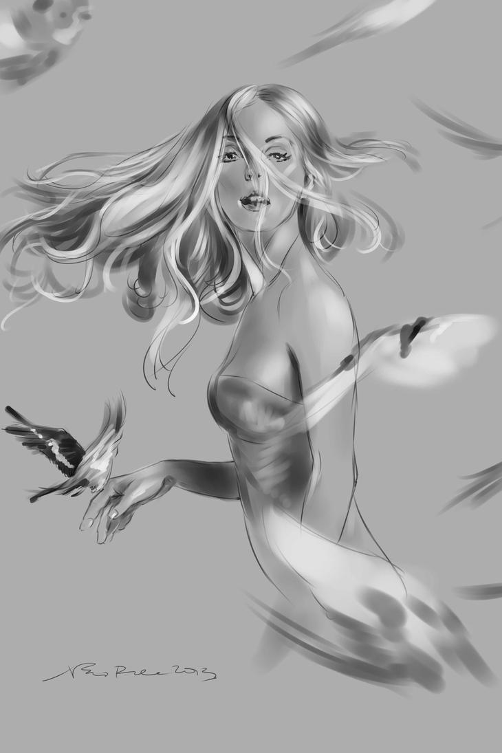 daily sketch  2970 by nosoart
