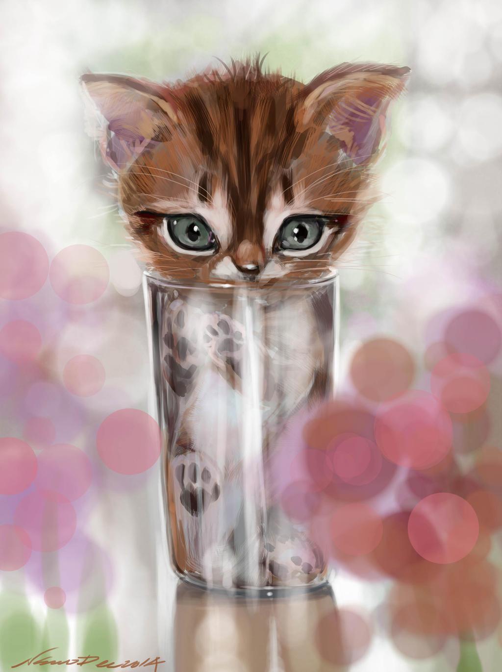 mandatory daily cat sketch 3723 by nosoart