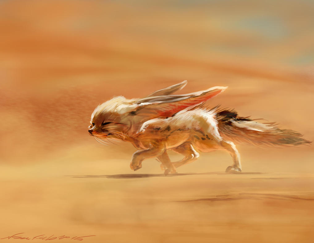 Fennec Fox In Sandstorm Ps By Nosoart On Deviantart