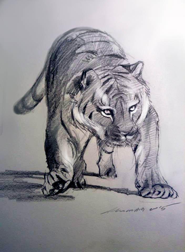 mandatory daily cat sketch 4025 by nosoart