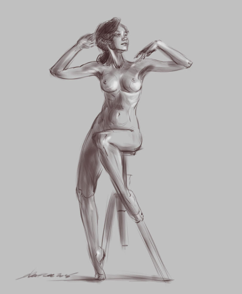daily sketch 4409 by nosoart