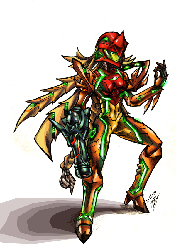 Metroid- Samus Redesign by Hakuramen