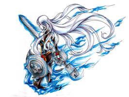 Her Valkyrian Flame.. by Hakuramen