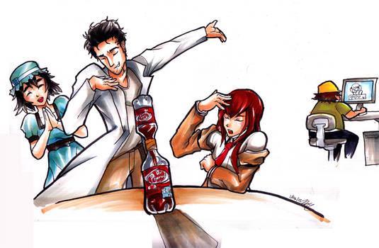 Steins Gate- Dr. Pepper Hourglass by Hakuramen
