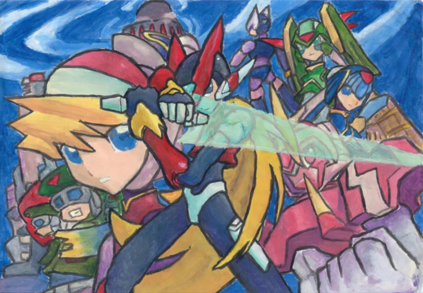 Mega Man Zero by Hakuramen