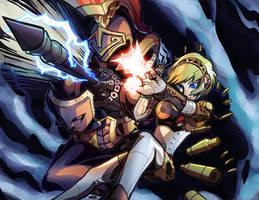 Persona 3- Aigis Orgia Mode Colored by Hakuramen