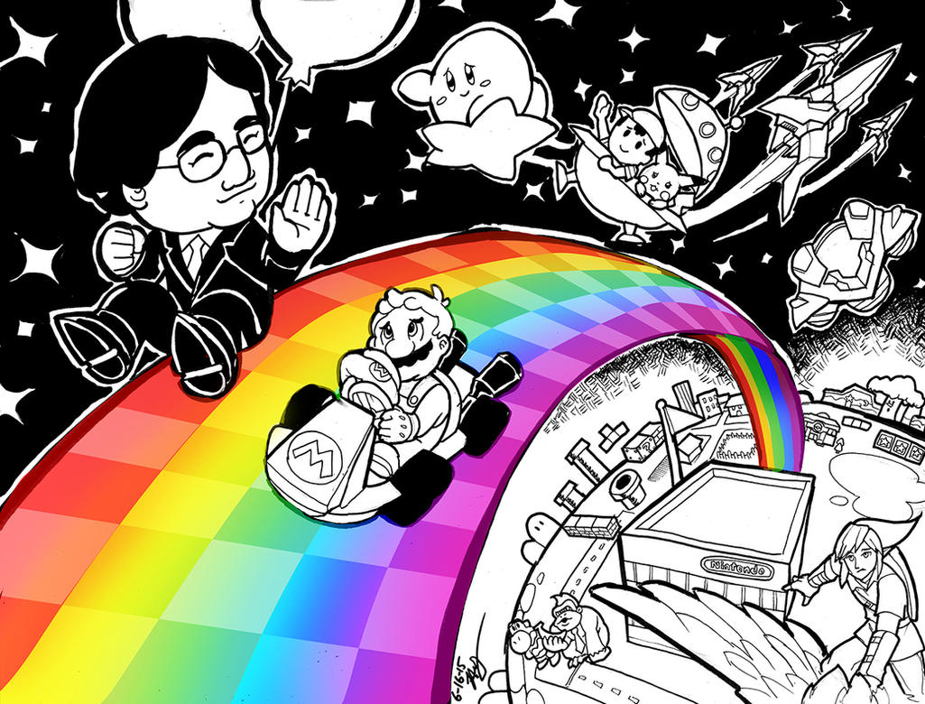 Thank You Iwata- On Rainbow Roads by Hakuramen