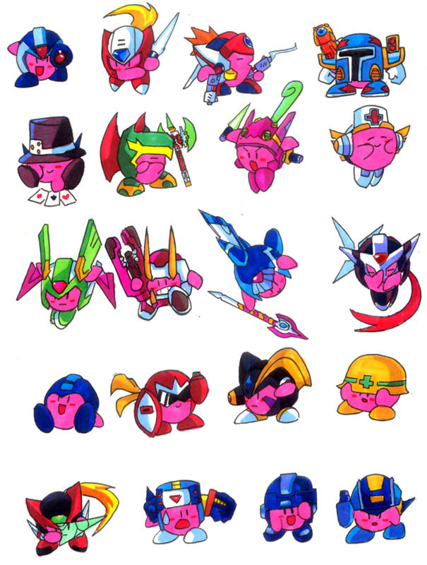"""Cool pictures Rated """"E"""" for everyone - Page 6 Mega_Kirbies__MEGA_series_by_DeityofShadows"""