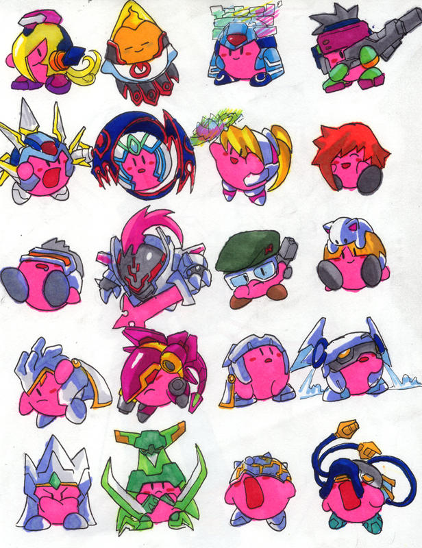 Mega Kirbies- RMZ Series by Hakuramen