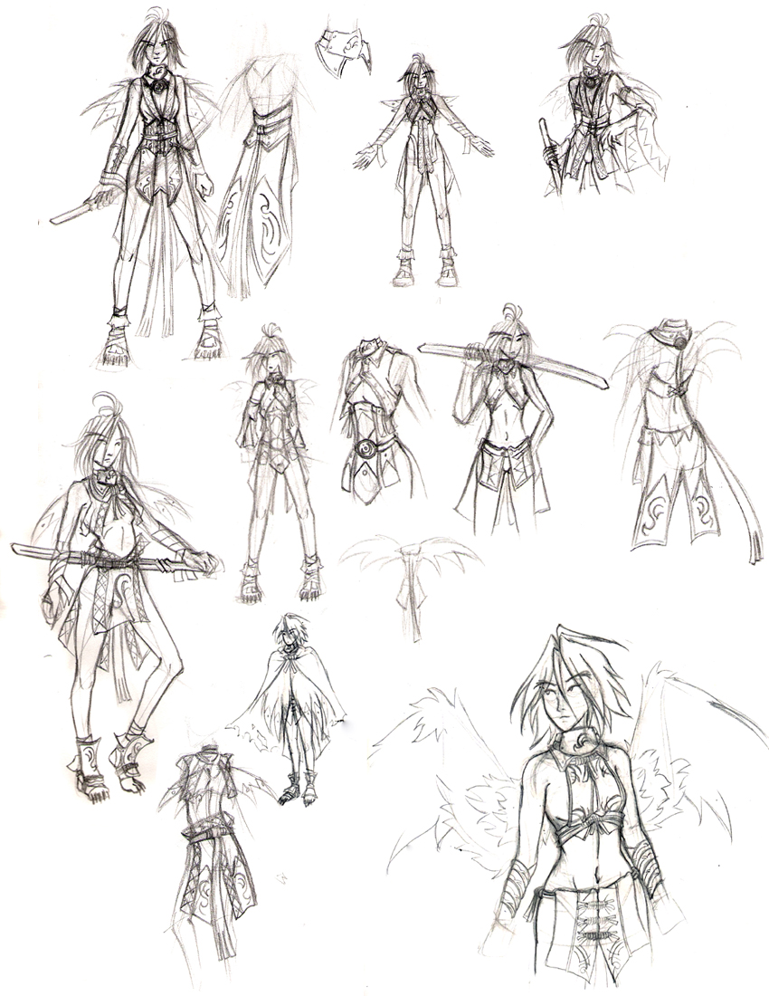 Concepts for Kida Maraviss by a-bad-idea