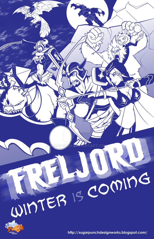 Valoran War Posters: Freljord by a-bad-idea