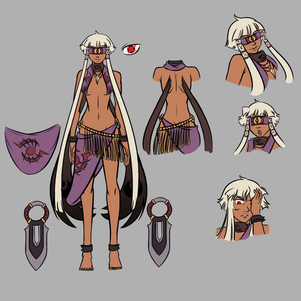 Bad Character Design Anime : Ayla shamalu design sheet by a bad idea on deviantart