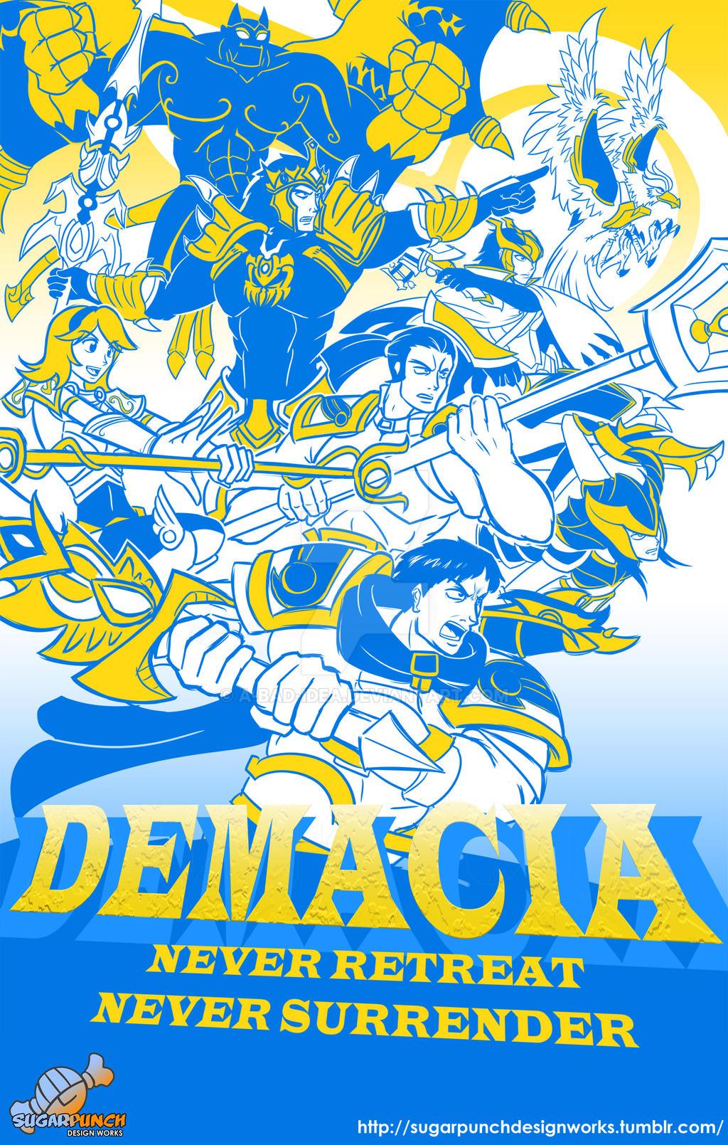 Valoran War Posters: Demacia v.2013 by a-bad-idea