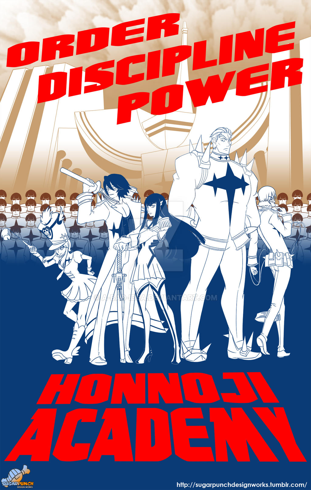 Kill la Kill - Honnoji Academy Poster by a-bad-idea