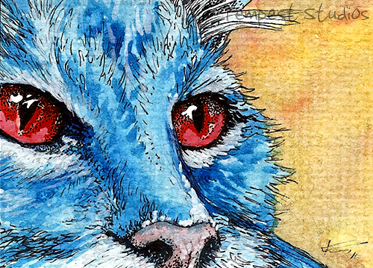 Cat Stare One ATC by TempestErika